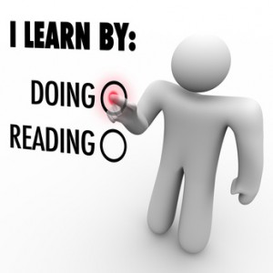 I Learn By Doing vs Reading Man Choosing Education Style