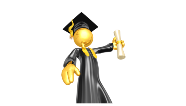 Animated Figure with Diploma